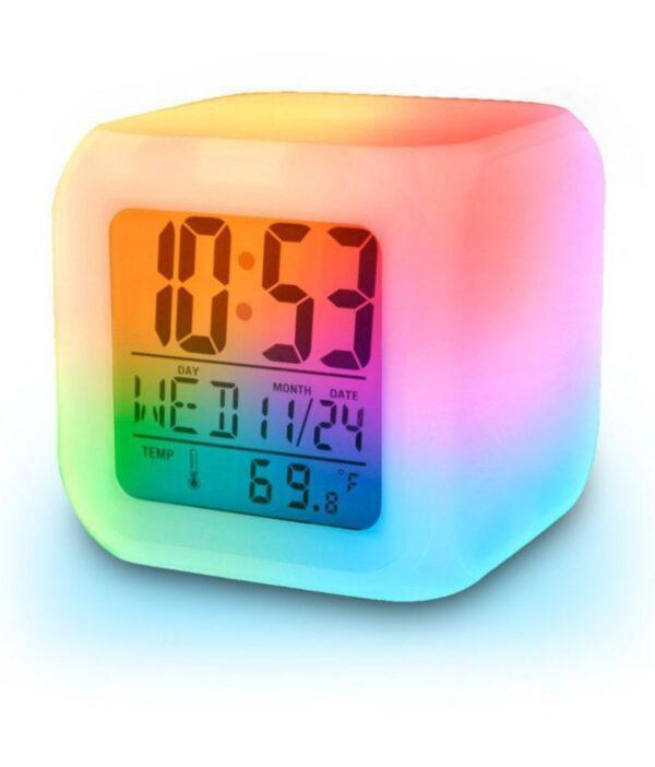 BUDZIK ZEGAR LED CYFROWY RGB